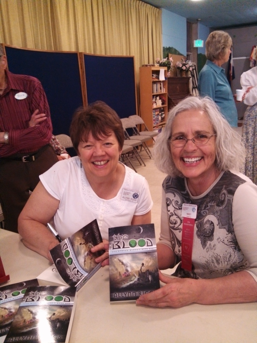 Book signing at square dance class